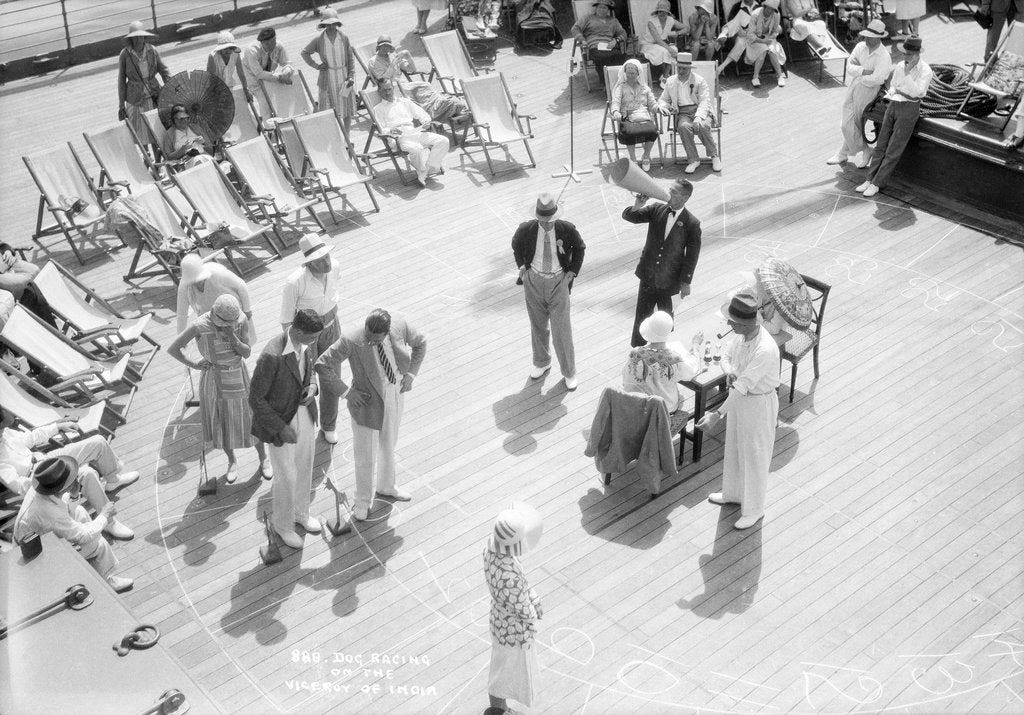 Detail of Dog Racing aboard the 'Viceroy of India' by Marine Photo Service