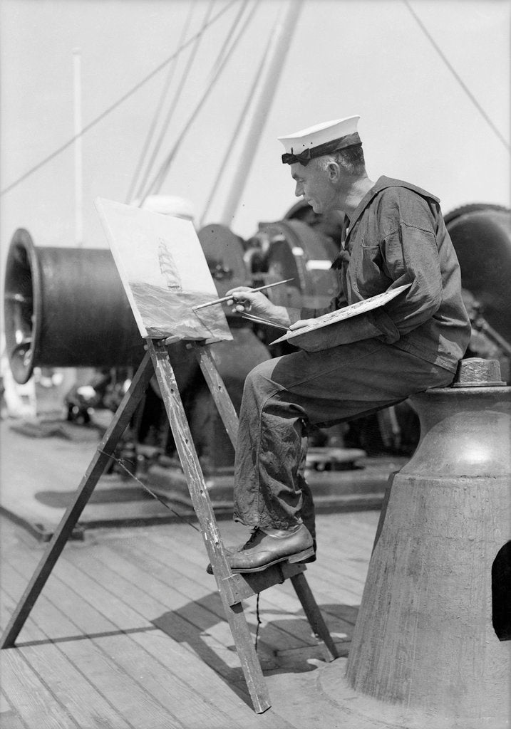 Detail of Seaman at recreation by Marine Photo Service