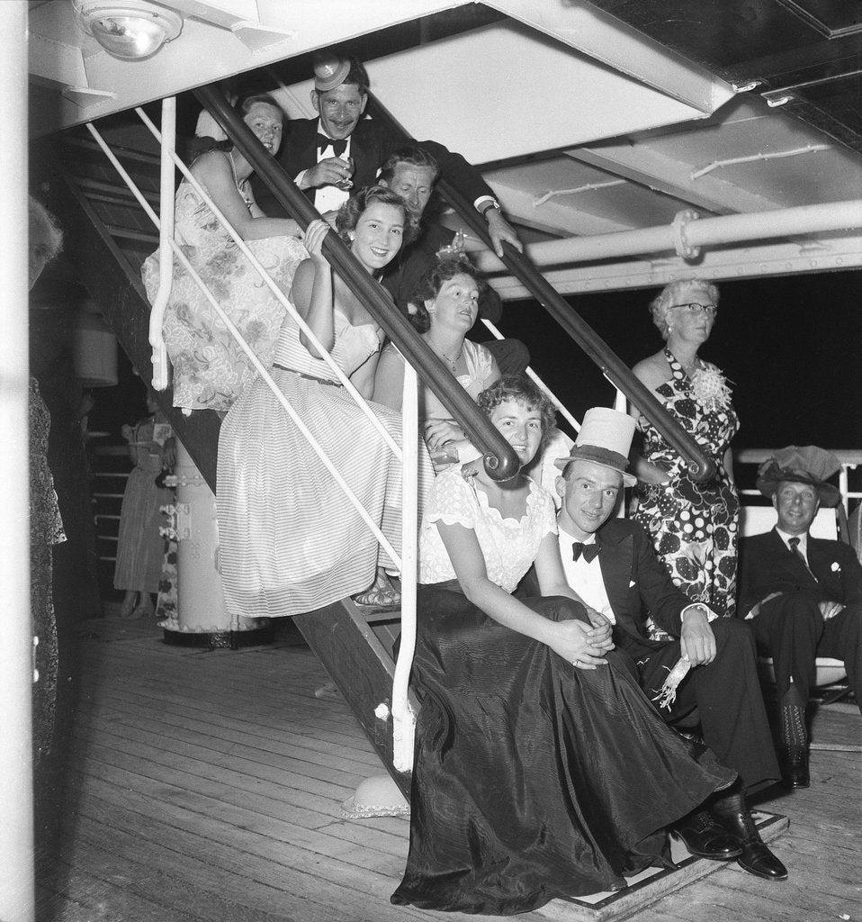 Detail of Cocktail party aboard the 'Chusan' by Marine Photo Service