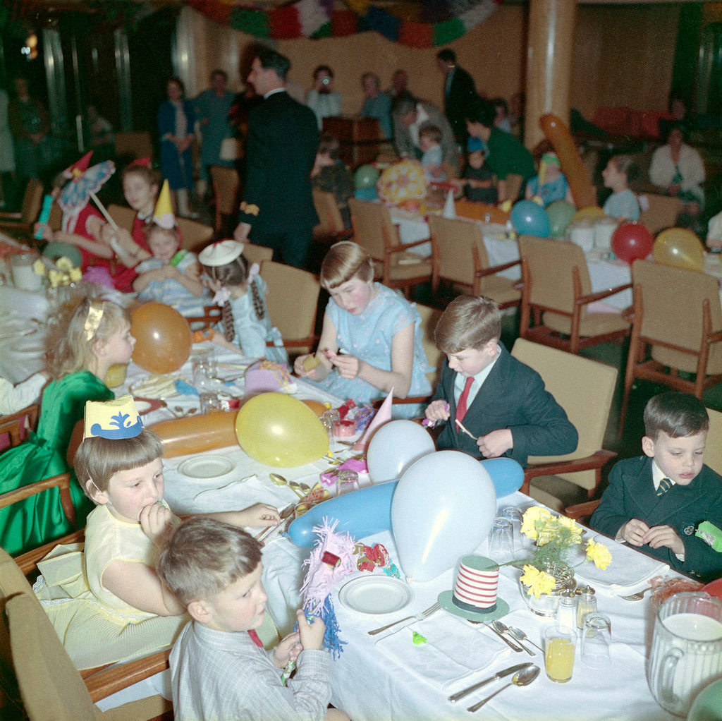 Detail of Children's party on the 'Empress of Canada' by Marine Photo Service