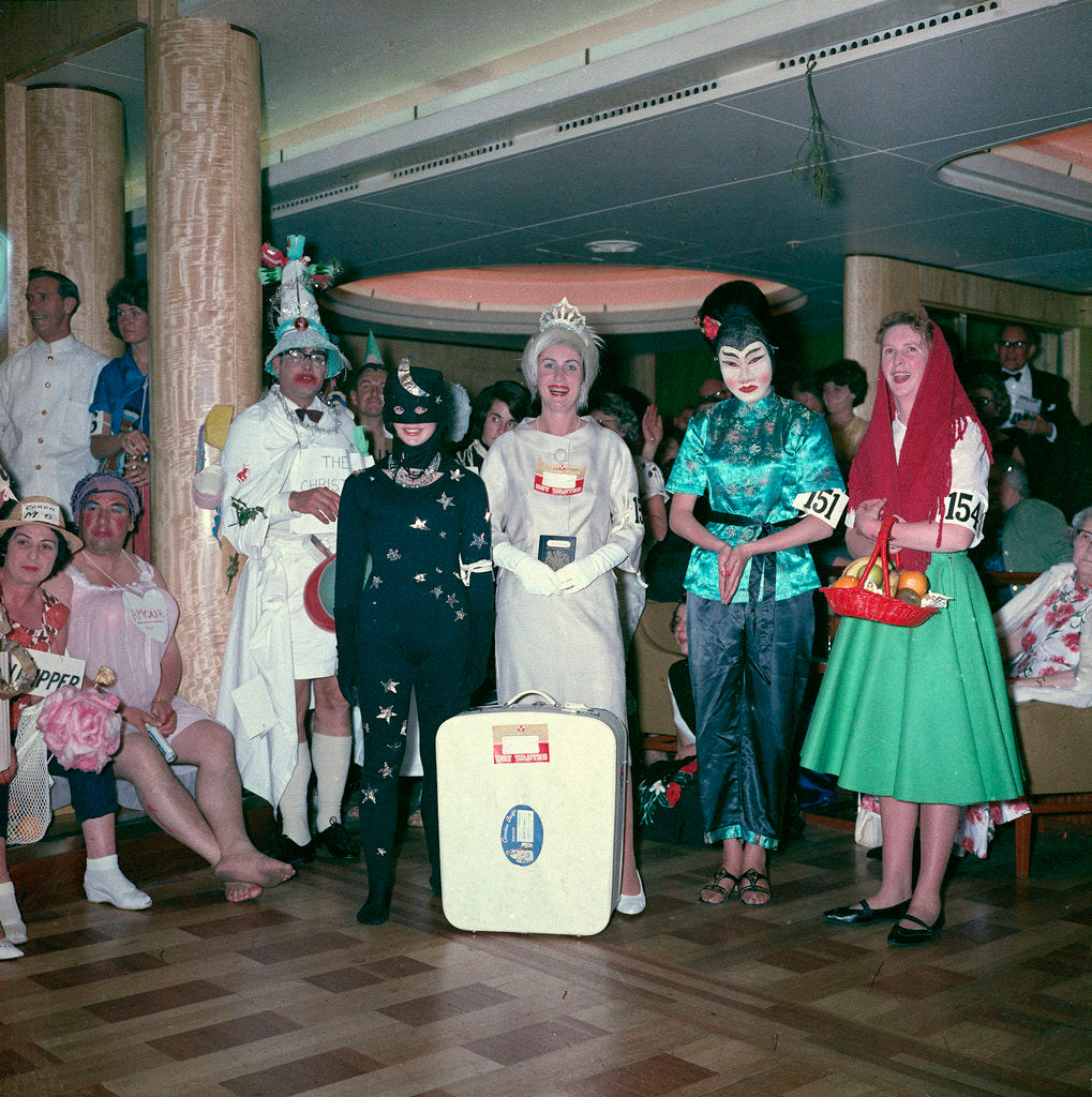 Detail of Fancy dress party aboard the 'Empress of Canada' by Marine Photo Service