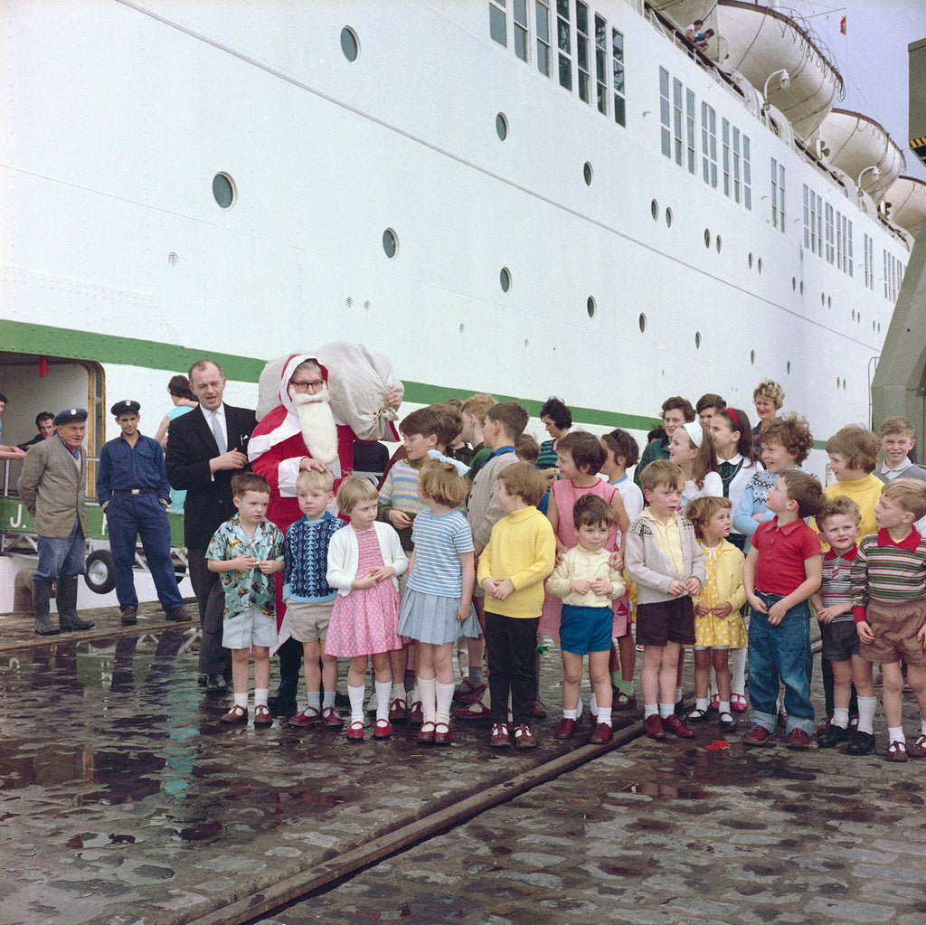 Detail of Christmas aboard the 'Empress of England' by Marine Photo Service