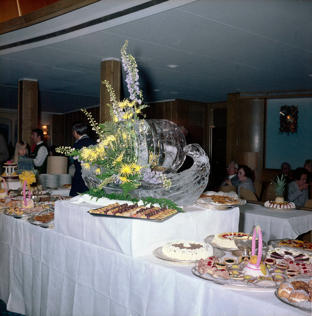 Detail of Smorgasbord aboard the 'Kungsholm' by Marine Photo Service