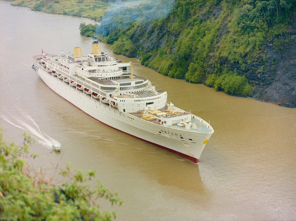 Detail of 'Oriana' Passing through the Panama Canal by unknown