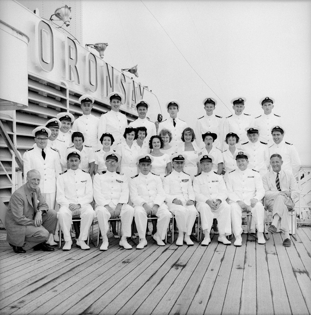 Detail of Officers of the 'Oronsay', 1961 by Marine Photo Service