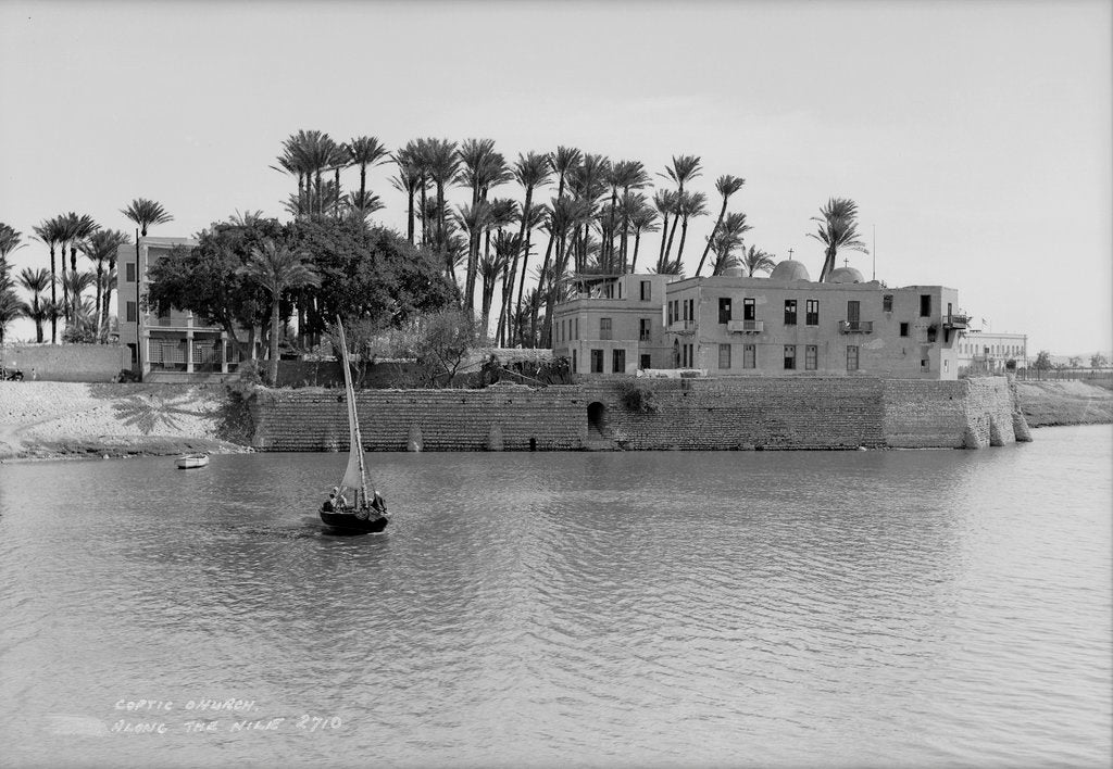 Detail of Coptic Church alongside the Nile at Cairo, Egypt by Marine Photo Service