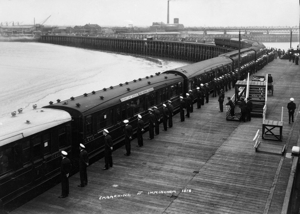 Detail of The railway station at Immingham Dock by Marine Photo Service