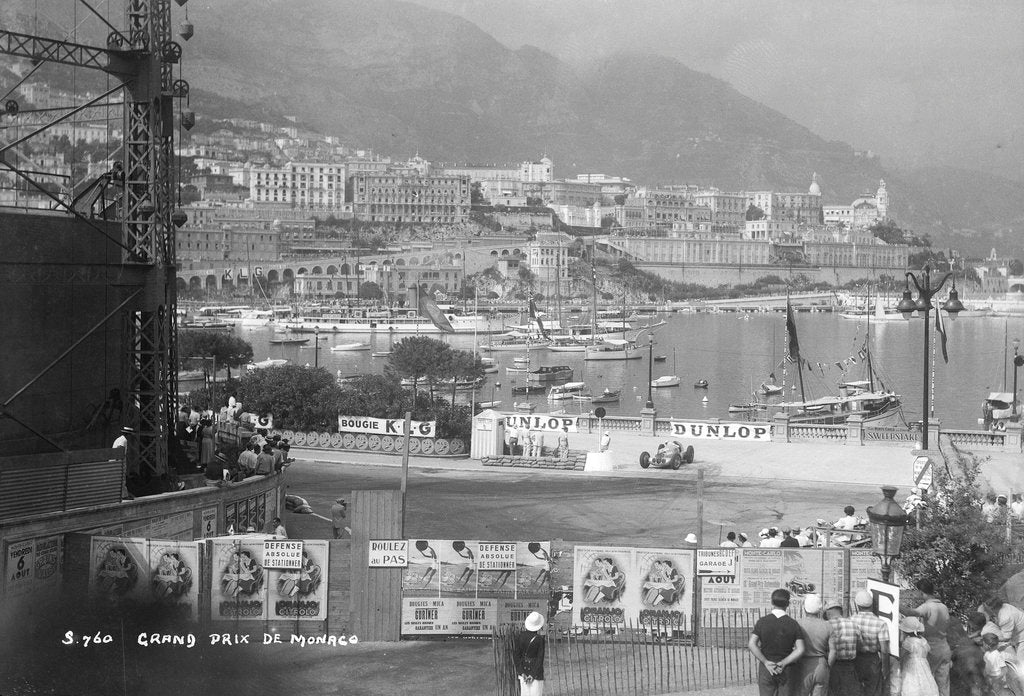 Detail of The Monaco Grand Prix, Monte Carlo, 8 August 1937 by Marine Photo Service