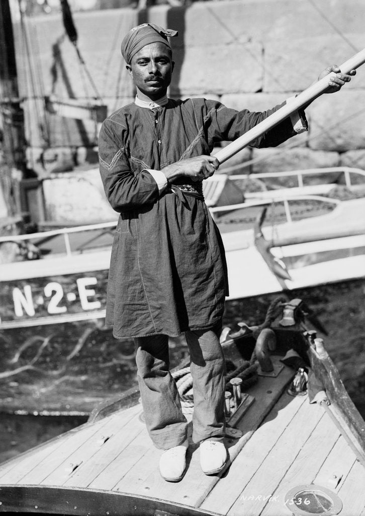 Detail of Lascar crew member at Narvik, Norway by unknown