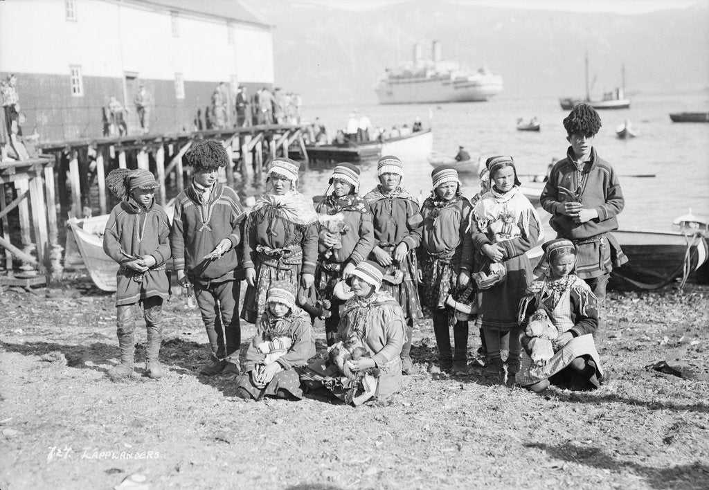 Detail of Sami people of northern Norway, circa 1935 by Marine Photo Service
