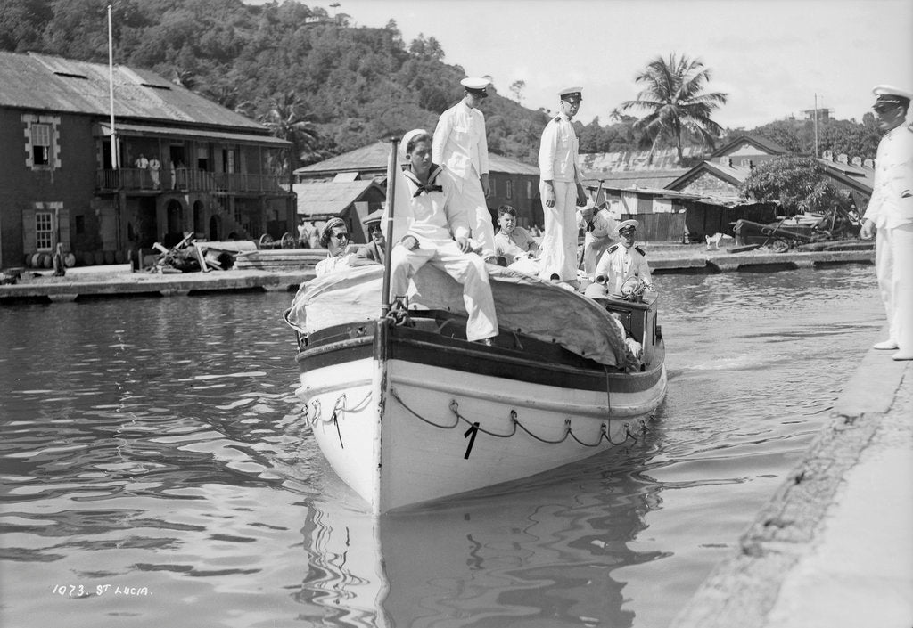 Detail of Tender arriving at St Lucia, Windward Isles, West Indies by Marine Photo Service