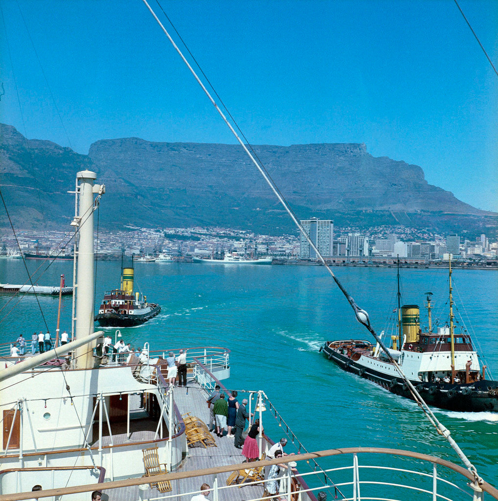Detail of Cape Town, South Africa by Marine Photo Service