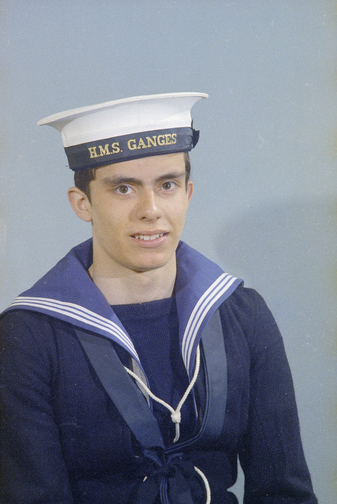 Detail of Portrait of Kevan Ward, HMS Ganges, 13th April 1975 by Reginald Arthur Fisk
