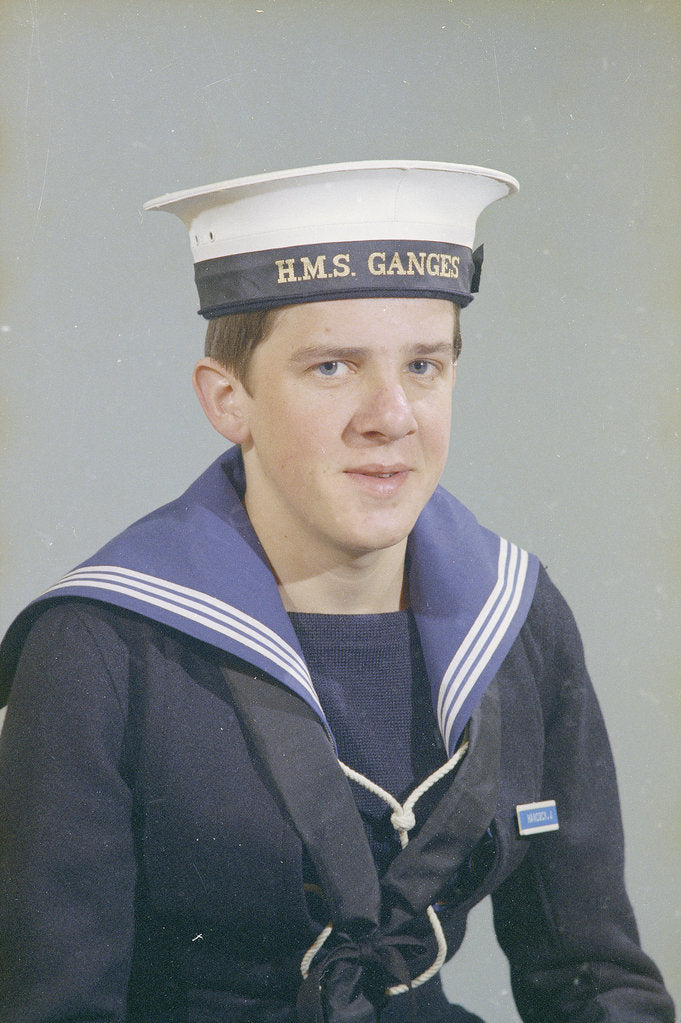 Detail of Portrait of John Hancock, HMS Ganges, 14th December 1975 by Reginald Arthur Fisk