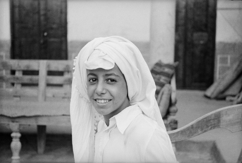 Detail of Portrait of a young Kuwaiti boy by Alan Villiers