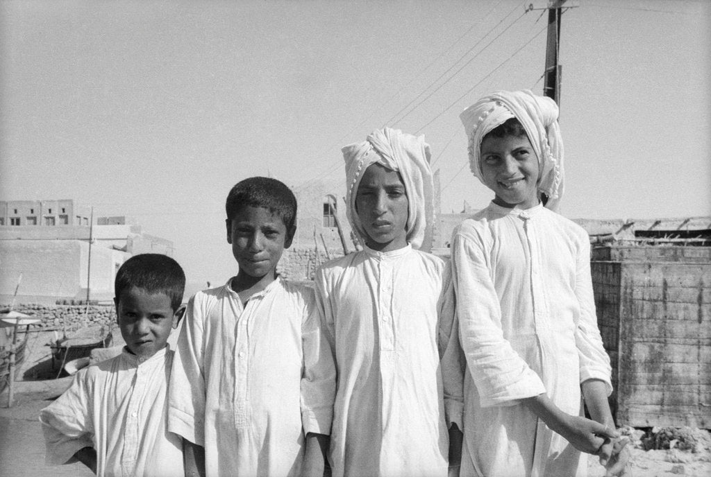 Detail of Kuwaiti boys by Alan Villiers