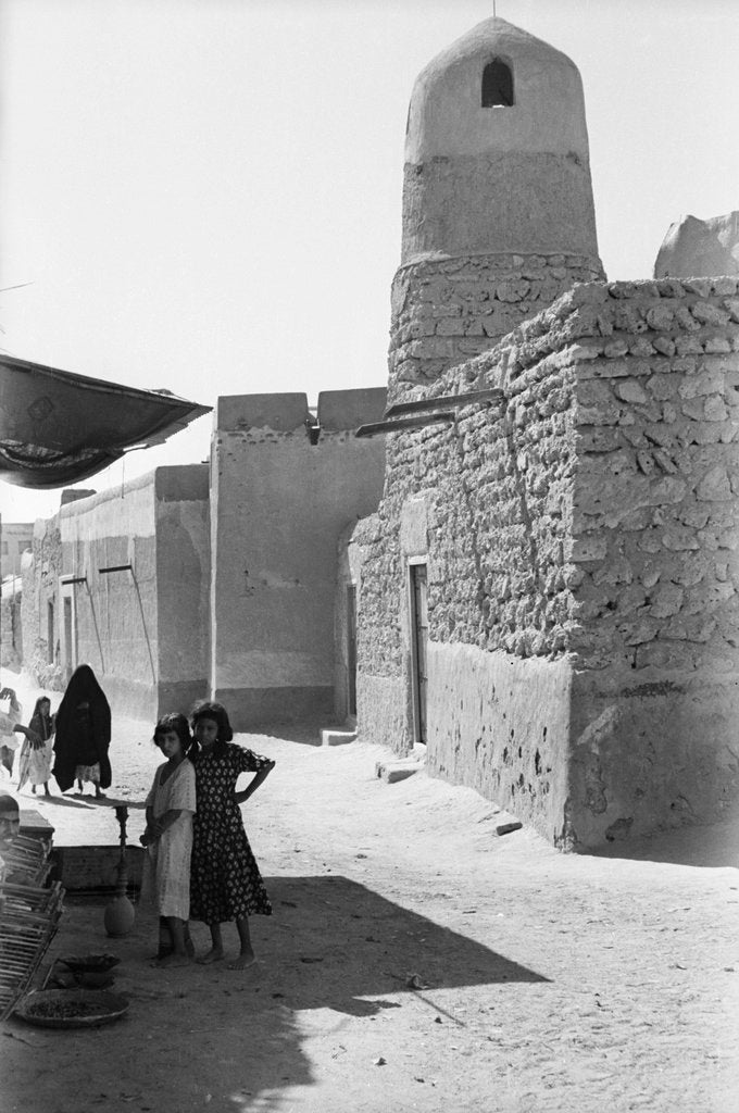 Detail of Mosque and street scene, Kuwait by Alan Villiers