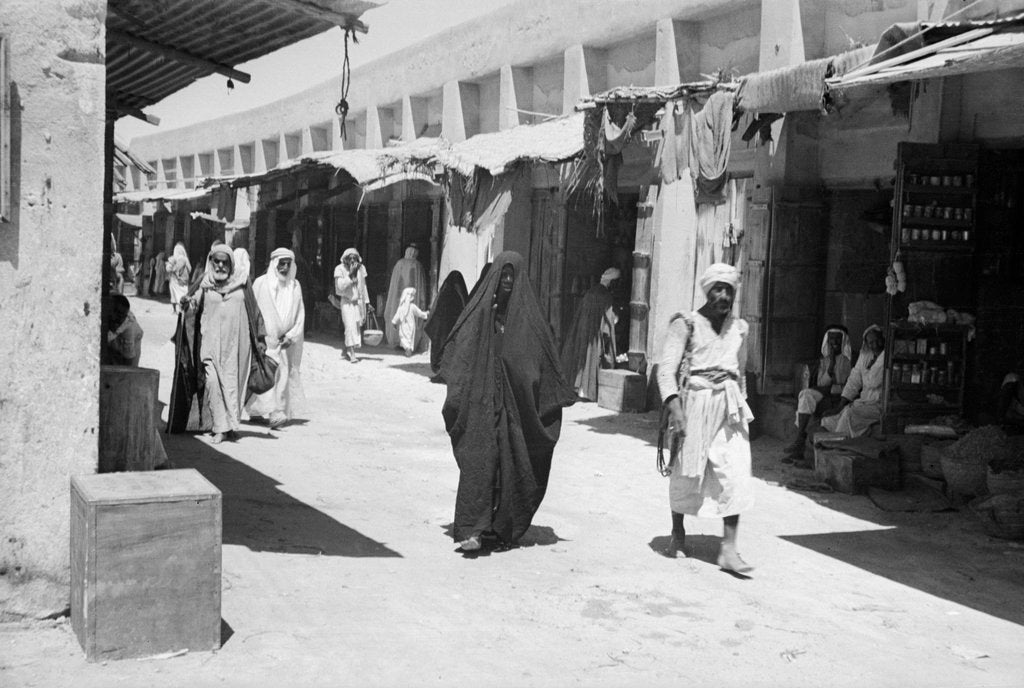 Detail of The bazaar or suq, Kuwait by Alan Villiers