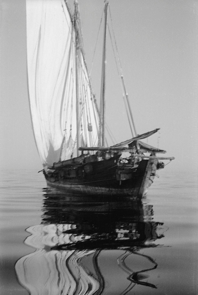 Becalmed off the Swahili coast by Alan Villiers