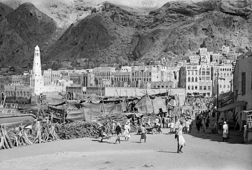 Detail of View of Mukalla by Alan Villiers