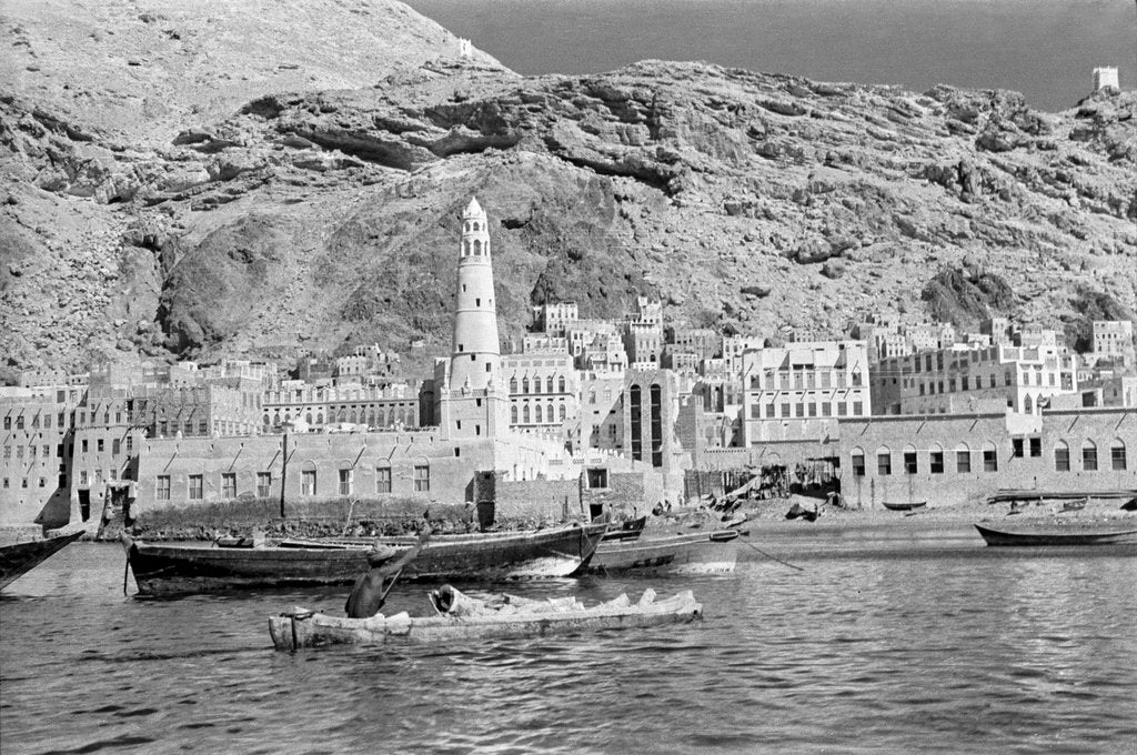 Detail of Mukalla waterfront by Alan Villiers