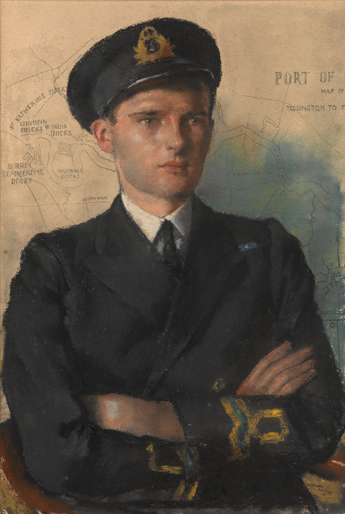 Detail of Lieutenant Peter Danckwerts, GC. RNVR by William Dring