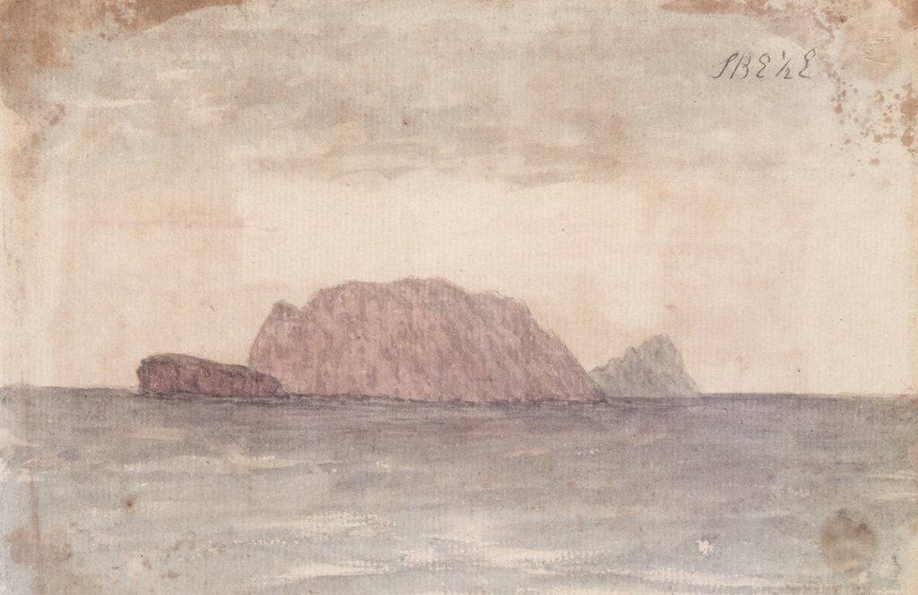 Detail of 'S by E 1/2 E' [a view of an island, from the Bray album] by Gabriel Bray