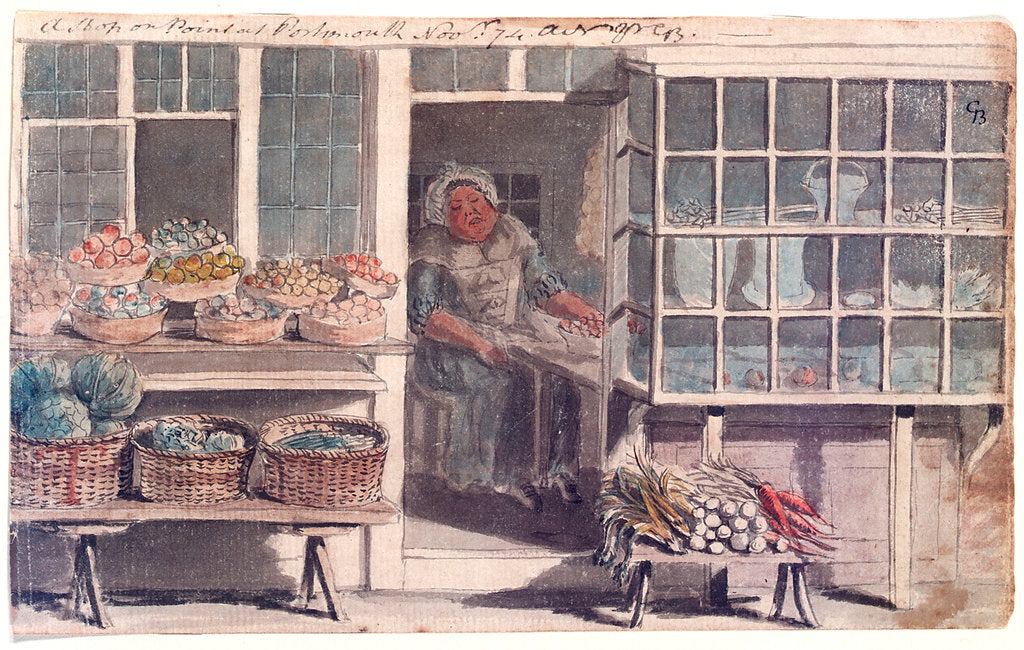 Detail of A shop on the Point at Portsmouth by Gabriel Bray