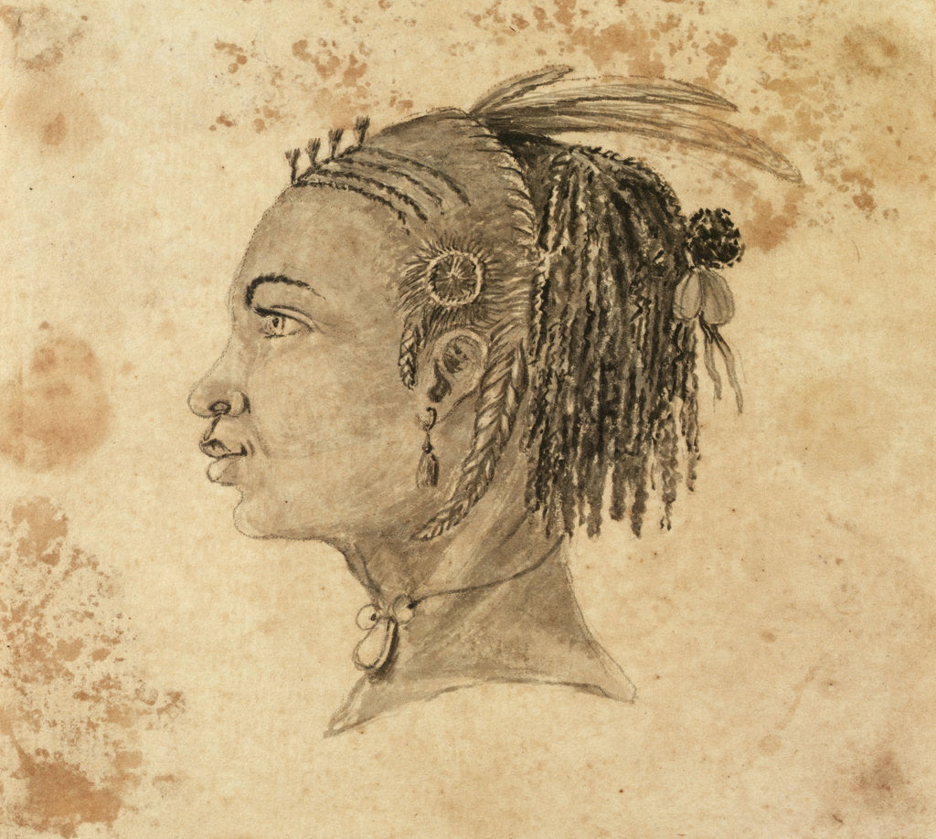 Detail of Head of a West African woman in left profile by Gabriel Bray