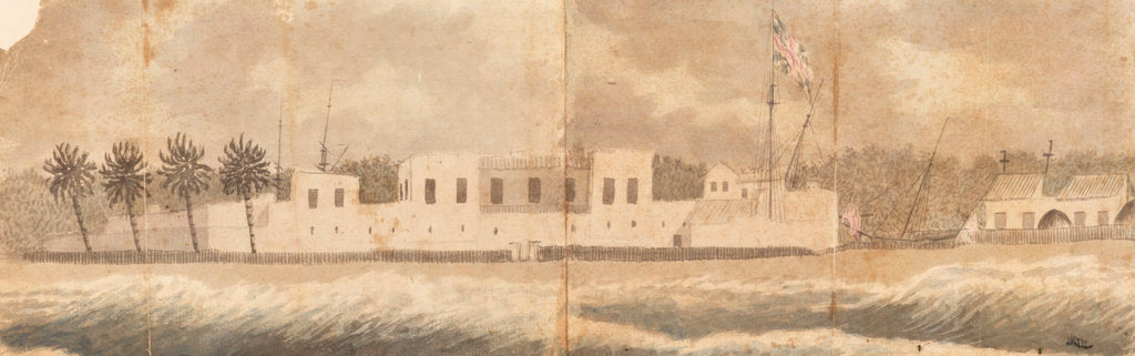 Detail of A View of the Fort at Senegal taken from the Road by Gabriel Bray