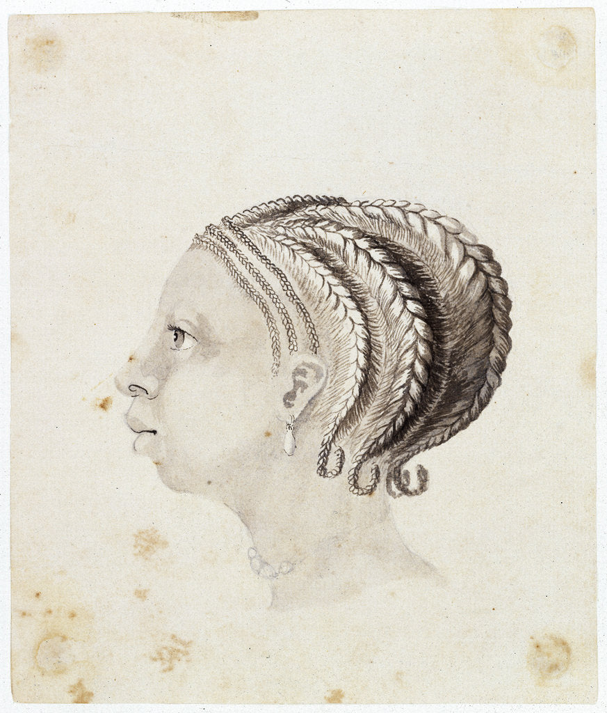 Detail of Head of a West African woman by Gabriel Bray