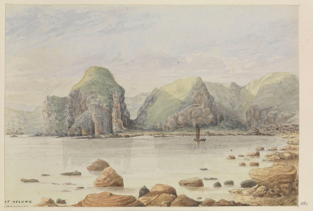 Detail of 'At Kelung, Formosa' [Taiwan] by James Henry Butt