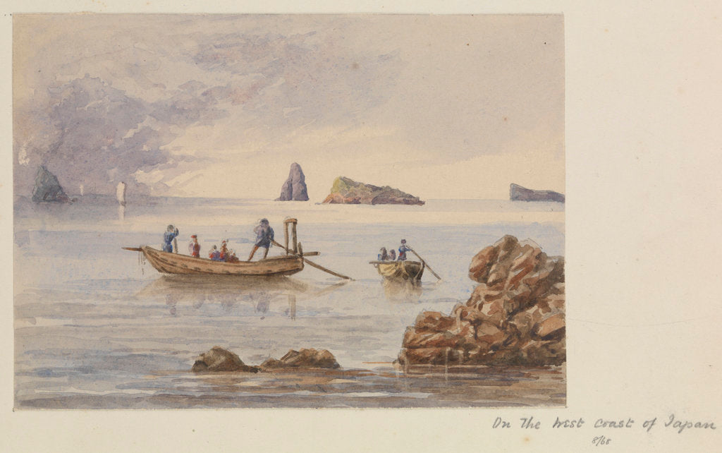 Detail of View of rocks and islets off Sotome (Nagasaki), Japan by James Henry Butt
