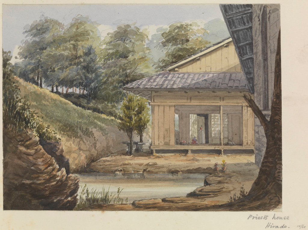 Detail of 'Priest's house, Hirado' [Japan] by James Henry Butt