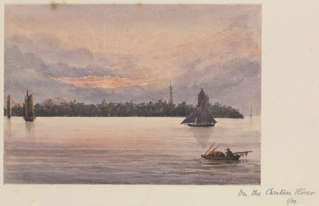 Detail of 'On the Canton River' [Guangzhou, China] by James Henry Butt