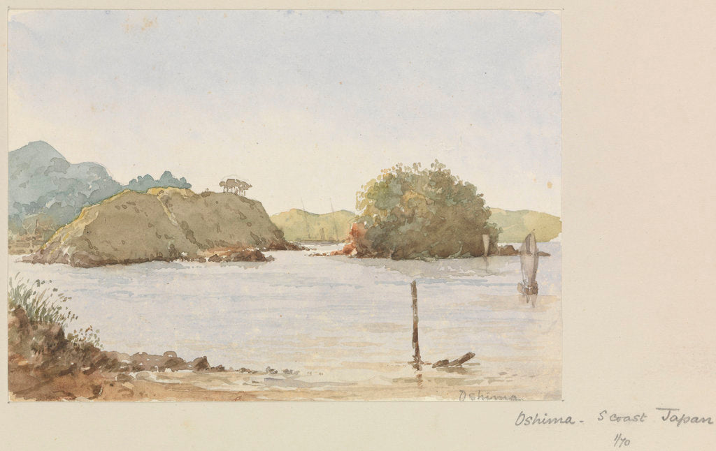 Detail of Oshima, south coast of Japan by James Henry Butt