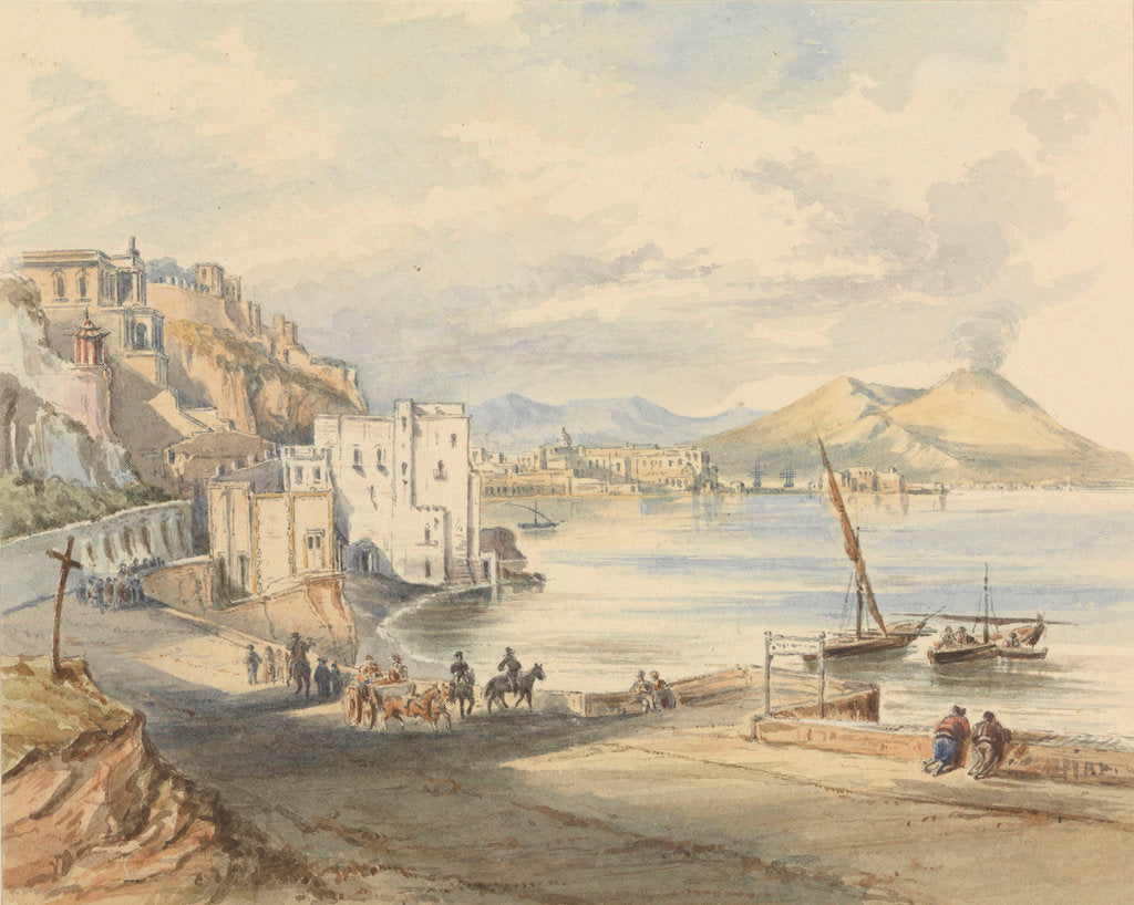 Detail of The road at Posillipo, Naples by James Henry Henry Butt