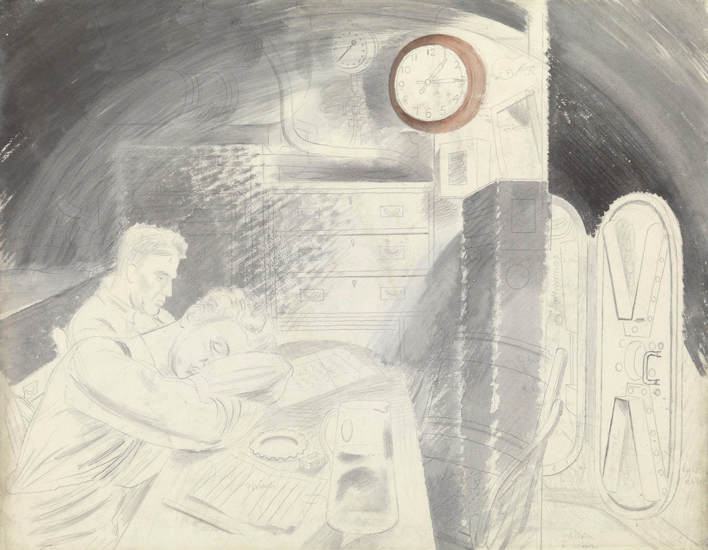 Detail of Submarine Series: The Ward Room by Eric Ravilious