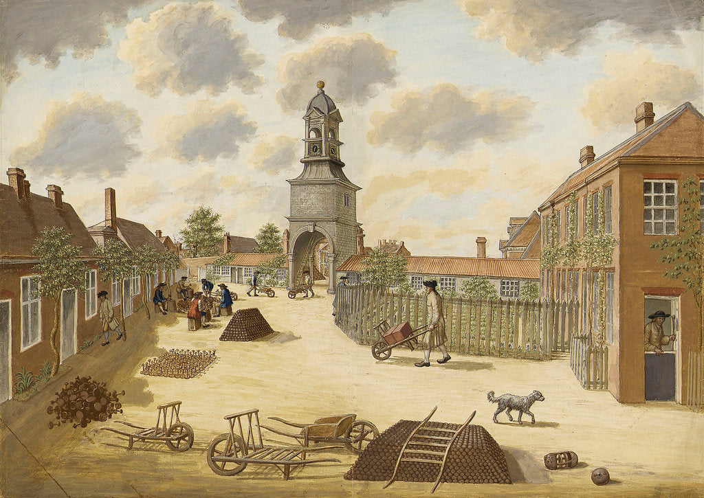 Detail of Laboratory Square at Woolwich Arsenal, facing south by unknown