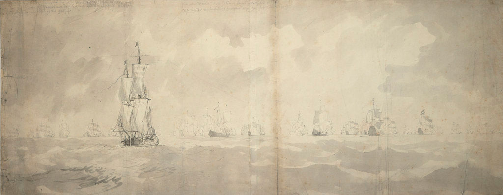 The Dutch fleet returning from Bergen, 3 September 1665 by Willem van de Velde the Elder