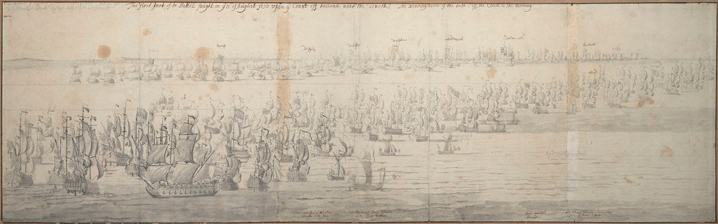 Detail of The Battle of the Texel (Kijkduin), 11[OS]/21 August 1673; first part by Willem van de Velde the Elder