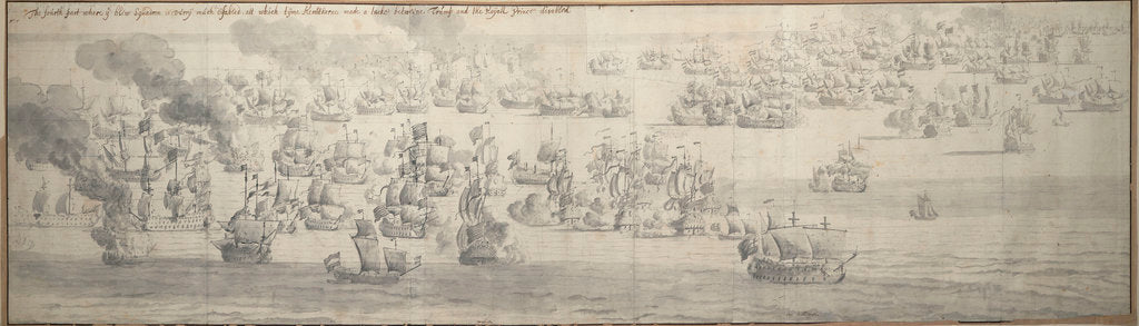 Detail of The Battle of the Texel (Kijkduin), 11[OS]/21 August 1673, fifth part by Willem van de Velde the Elder