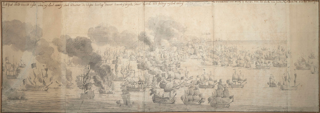 The Battle of the Texel (Kijkduin), 11/21 August 1673, seventh part by Willem van de Velde the Elder