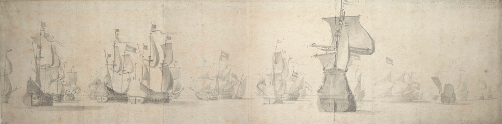 The Dutch fleet on its way to the Sound, trying to beat around the Skaw by Willem van de Velde the Elder