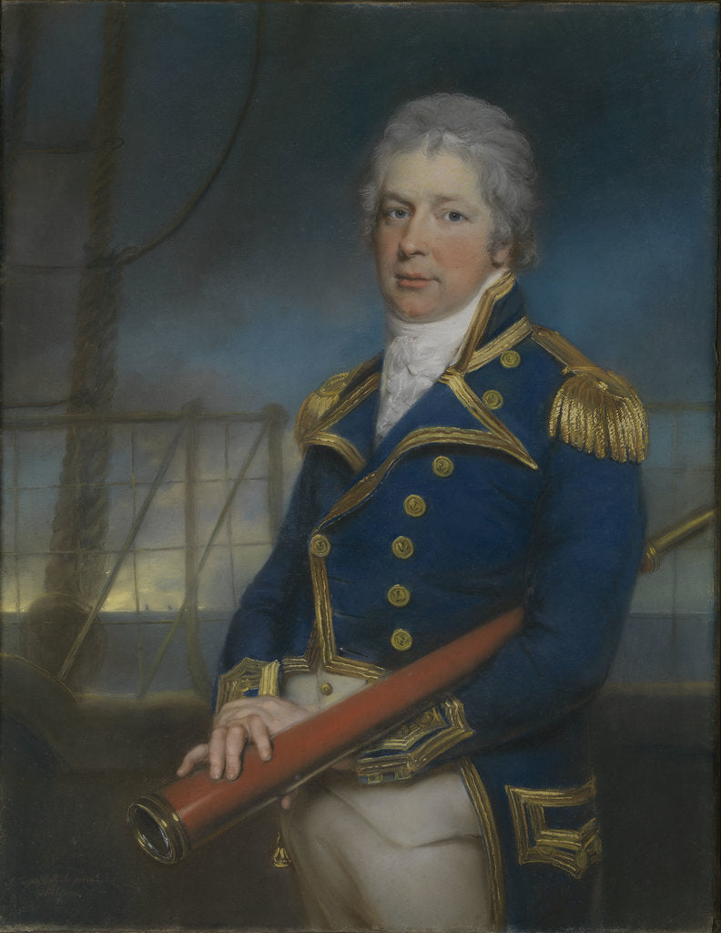 Detail of Rear-Admiral William Pierrepont (1767-1813) by John Russell