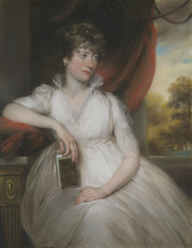Detail of Mrs William Pierrepont (n Maria Salter) by John Russell