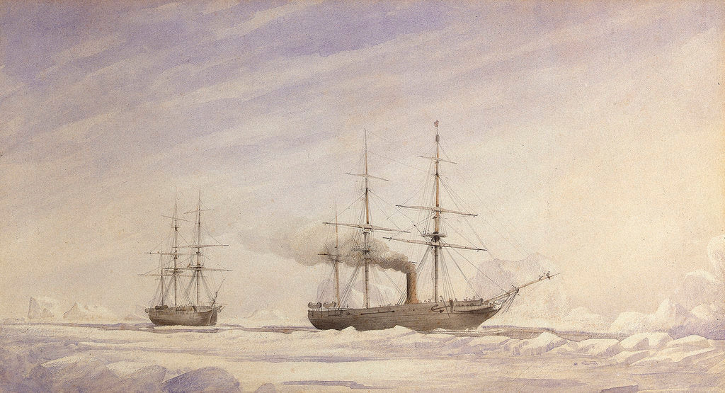 'Phoenix' and 'Breadalbane' in Melville Bay by Edward Augustus Inglefield