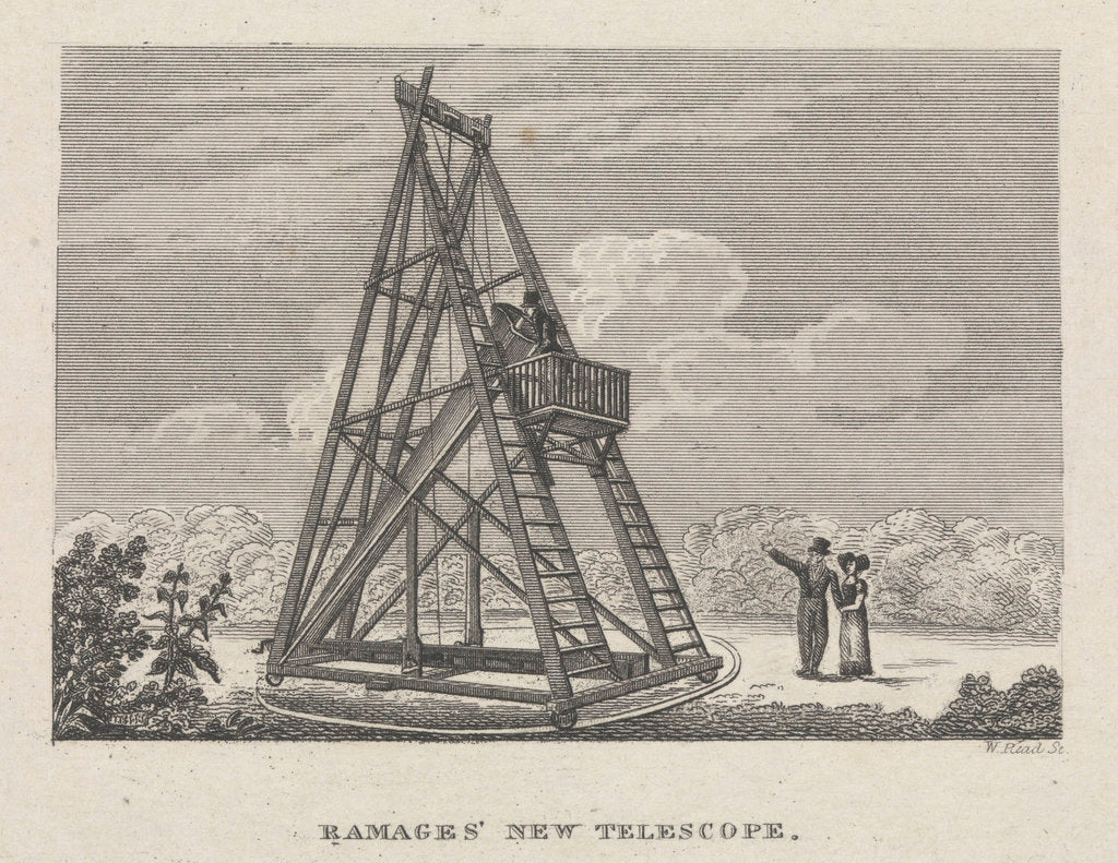 Detail of Ramages' new telescope by W. P. Read
