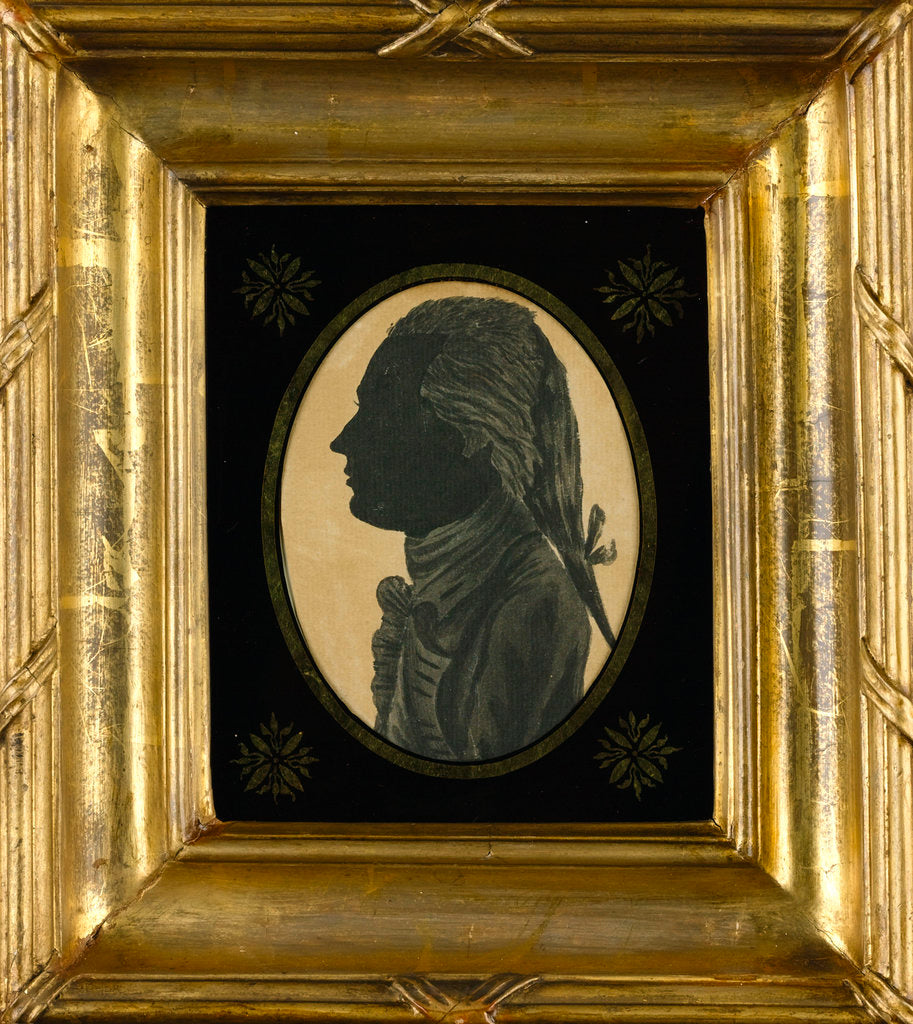 Detail of Silhouette of Cuthbert Collingwood drawn by Horatio Nelson when both were serving in the West Indies by Horatio Nelson