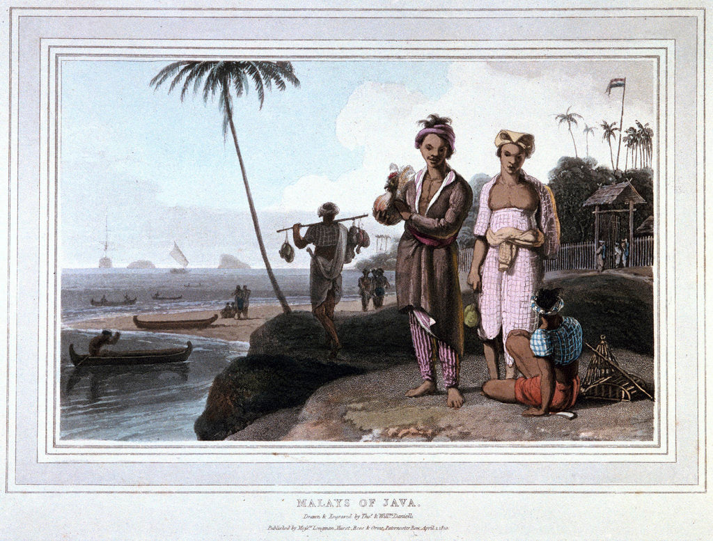 Detail of Malays of Java by Thomas Daniell